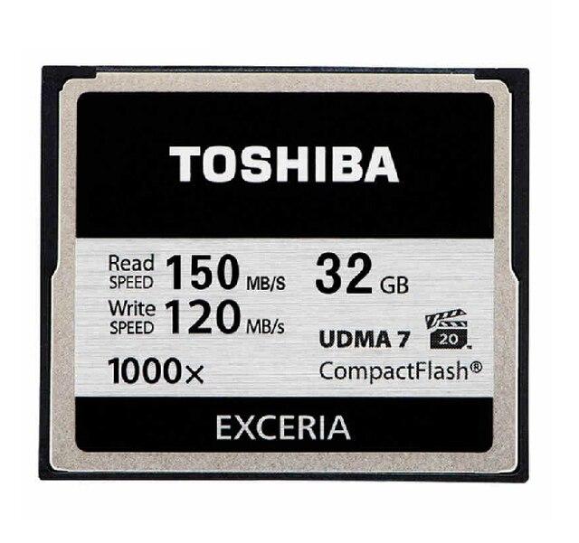 Toshiba 150 MB/s 1000x32 GB Cf-карты 64 ГБ 128 ГБ Класса 10 UDMA 7 CompactFlash Карты Памяти Для Canon Nikon Цифровых ЗЕРКАЛЬНЫХ камера