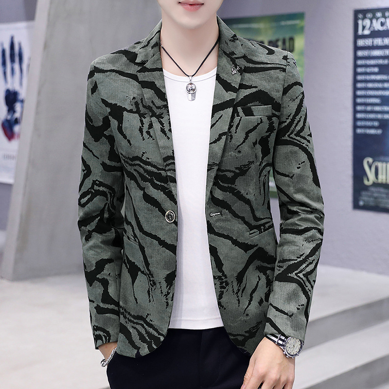 Spring Summer Clothes 2019 Mens Casual Coat Blazer Glitter Costume Dress Men Slim Fit Dress Camouflage Velvet Thin Blazers Suits