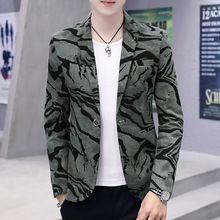 Spring Summer Clothes 2019 Mens Casual Coat Blazer Glitter Costume Dress Men Slim Fit Camouflage Velvet Thin Blazers Suits