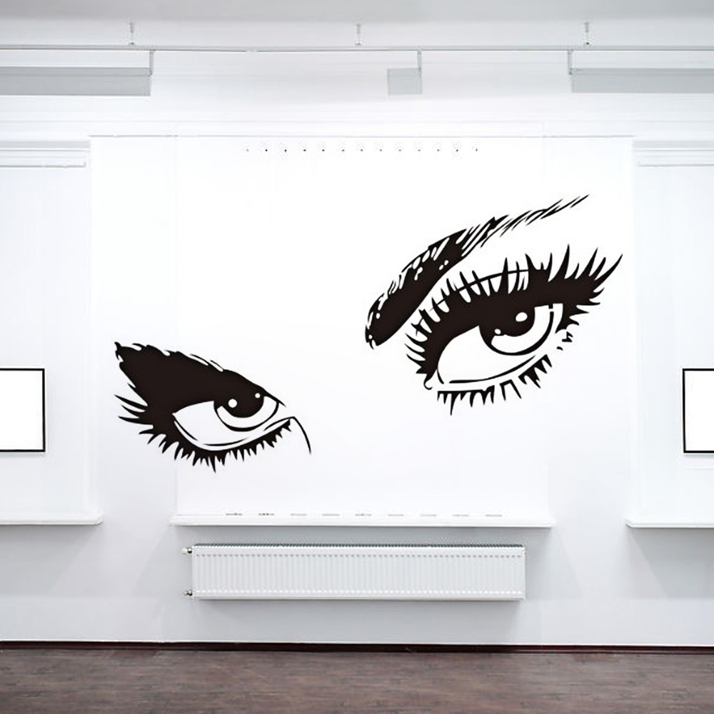 Wall Art Stickers Eyes : Aliexpress buy audrey hepburn black sexy eyes decal