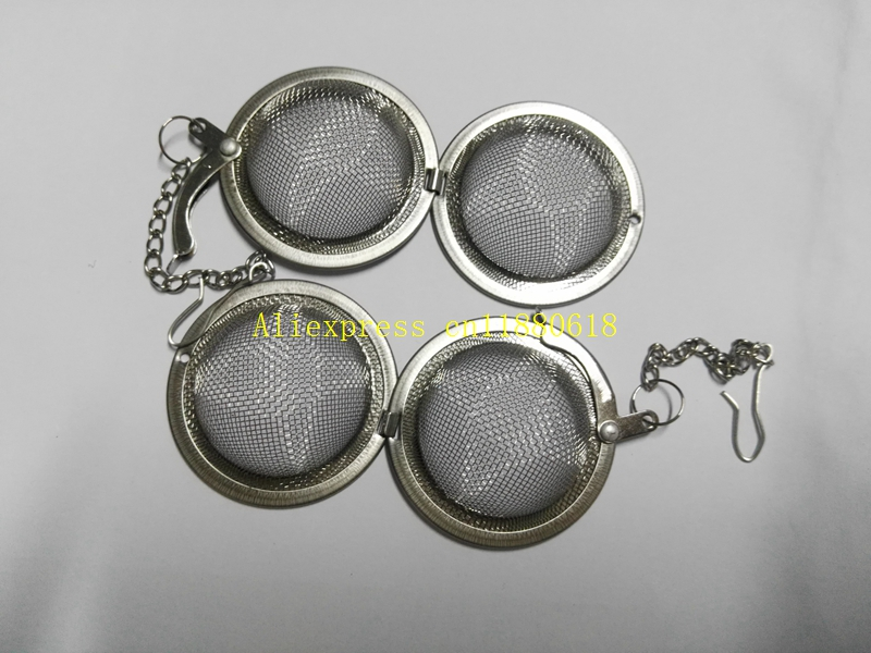 1000pcs/lot 4.5cm/5.5cm/7cm Stainless Steel Sphere Spice Tea Ball Strainer Mesh Infuser tea strainer Filter infusor