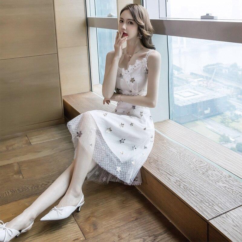 Nouvelle Qualité Coréen Longues Lignes Robe Tempérament Supérieure Dentelle À En Décontracté 2019 Moulante Tricoté 1 Printemps Manches qF5rTAxwgF