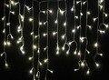 3,5 m 100 leds branco quente natal festa de casamento fadas cortina de luz led string tira lâmpada bar de gelo guirlandas