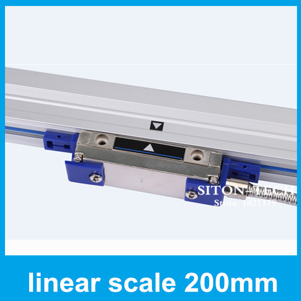 lathe equipment absolute sealed linear encoder Rational WTA5 0.005mm 200mm turning lathe drill machine distance scales  цены