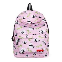 Women's Animal Panda Printed Backpack Girls School Bags For Teenager Travel Large Knapsack Rucksack 30 x 17 x 40cm