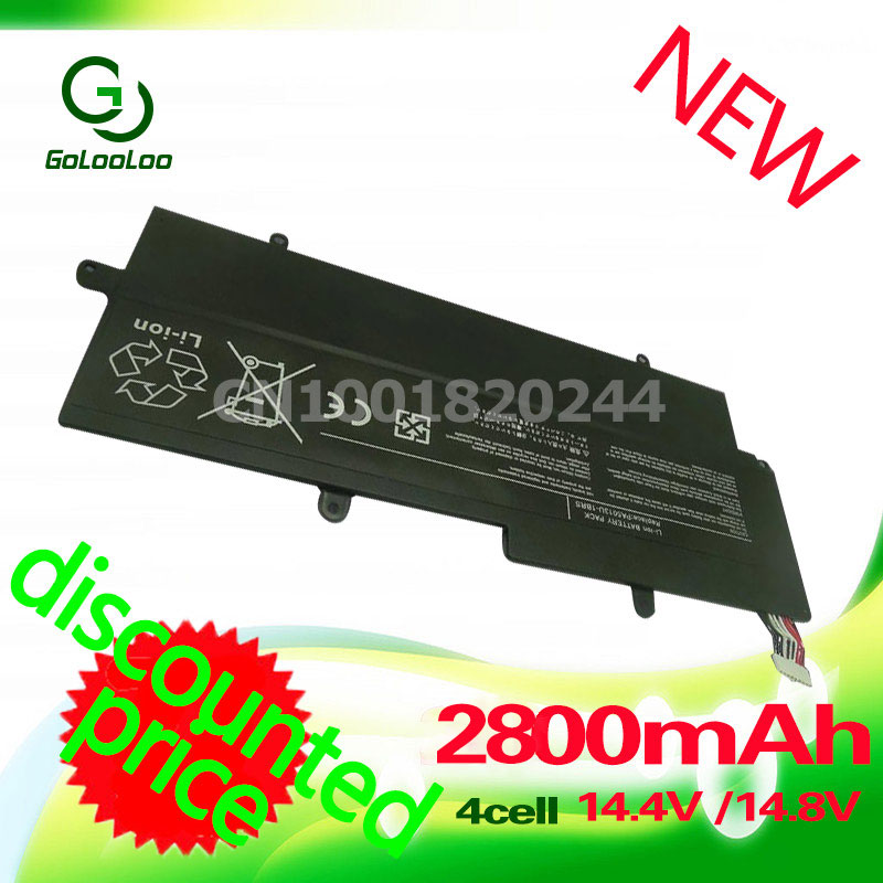 Golooloo 2800MAh 14.4v Laptop battery for Toshiba Portege Z930 Z830 Z935 Z835 Ultrabook Series REPLACE PA5013U-1BRS PA5013U 14 8v 47wh original laptop battery for toshiba z830 z835 z930 z935 pa5013u 1brs