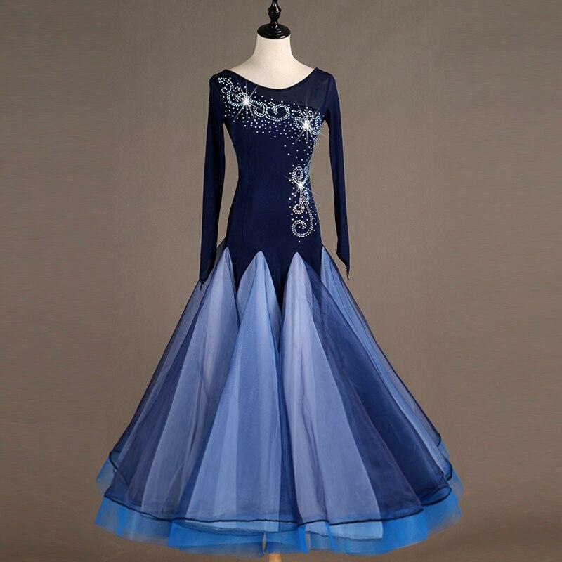 2019 New Costume Sale Ballroom Dance Skirts Newest Design Woman Modern Waltz Tango Dress/standard Competition Dress MQ110