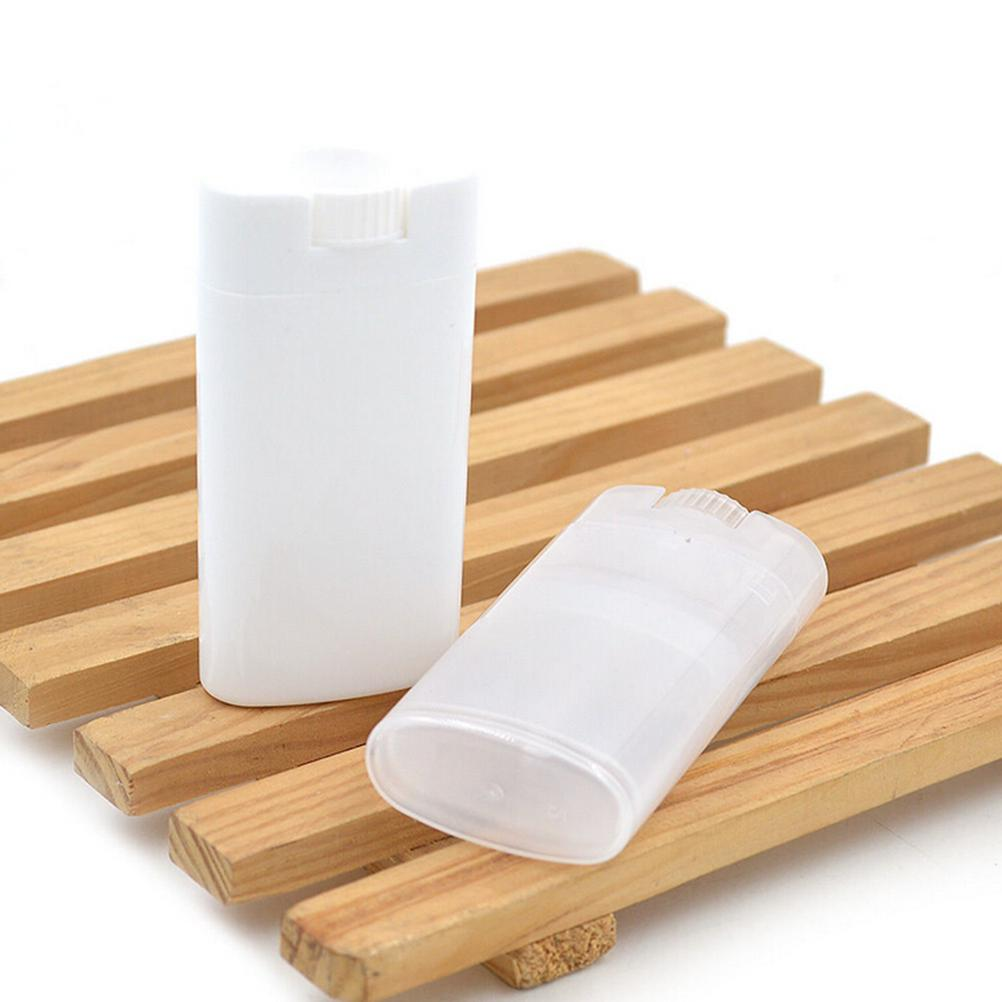 US $0 73 35% OFF|Plastic Empty Oval Lip Balm Tubes Deodorant Containers  Clear White Refillable Bottles Fashion Cool Lip Tubes-in Refillable Bottles