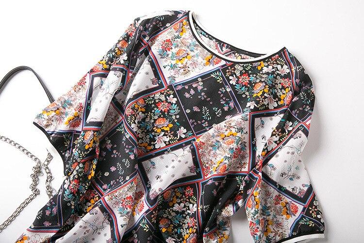 shirt Printemps De T Courtes été Soie 2019 Et Diamant Imprimé Vêtements Femmes Manches Blanc Col Le Nouveau Noir Manteau 5qRXwxTZ