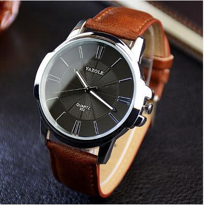 YAZOLE Sports Men Watch Luxury Top Brand business Male Clock simple WristWatch Leisure Fashion Leather quartz watch Relogios 3