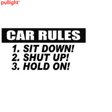Car Rules Graphic Die Cut decal sticker Truck Boat Window Laptop