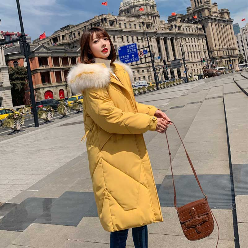 Fur   Coat   Hooded Winter   Down     Coat   Jacket Thick Warm Long Cotton padded Wadded Parkas Casaco Feminino Abrigos Mujer Invierno 01