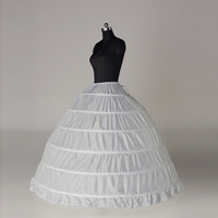 white 6 hooped wedding Accessories Slip bridal petticoat underskirt