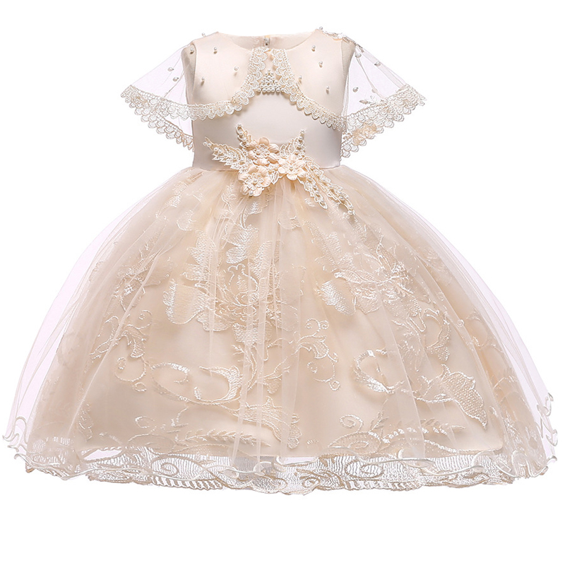 2019 Summer Ball Gown   Flower     Girl     Dress   Princess   Dress   Costume Kids   Dresses   For   Girls   Clothing Party Wedding   Dress   10 Year L5065