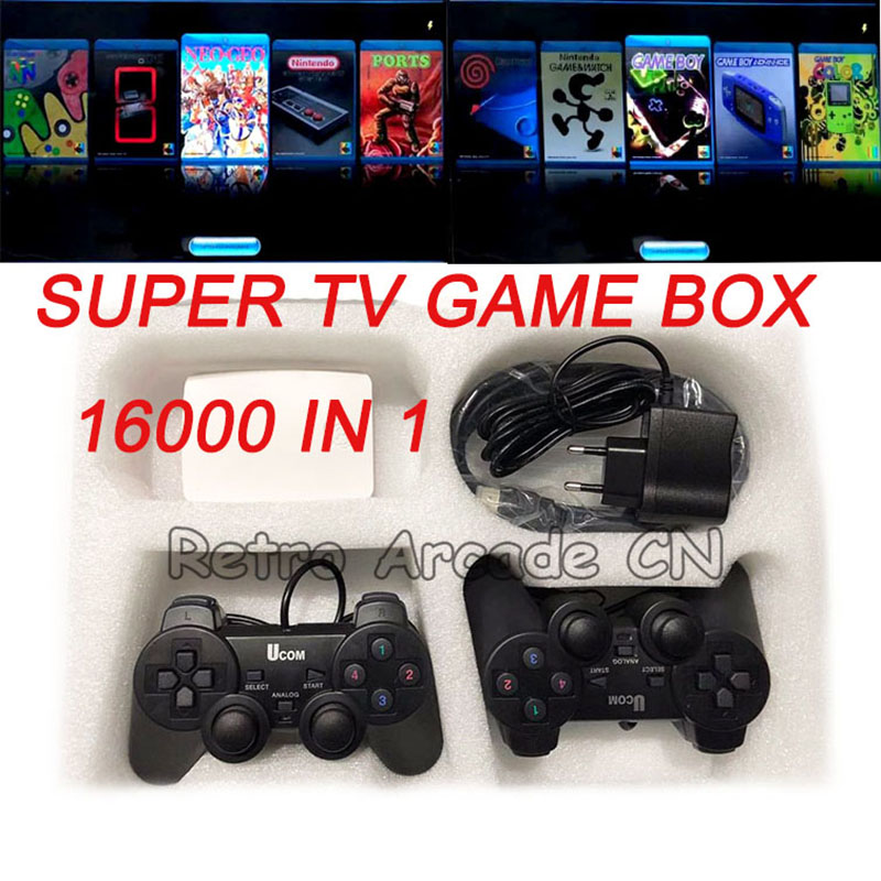 Arcade Game/ Mario/Game Boy/MSX/NEO GEO/ TV Game Box 16000 in 1 with two USB joypad HDMI output to TV image
