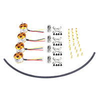 F02015 AC 4 Pcs A2212 1000KV Brushless Outrunner Motor Mount with 12 Pairs 3.5MM Banana Plug ( Male and Female) for Quad UFO FS