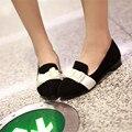Высокое Качество Повседневная Квартиры Женщины Низкий каблук Офисные Обувь Slip On мокасины Женщина Карьера Оксфорды Плоские Туфли Плюс Размер 34-40 41 42 43