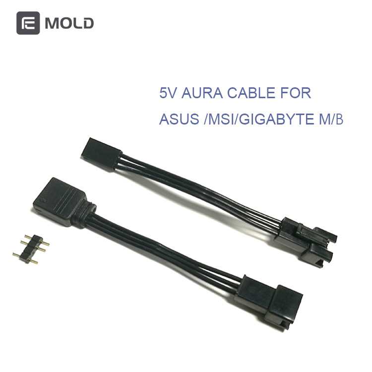 Fancier AURA Cable connect to MSI/ASUS/GIGABYTE motherbaord 5v 3pin header,convert mainboard cable ,drop shipping ,wholesale 1