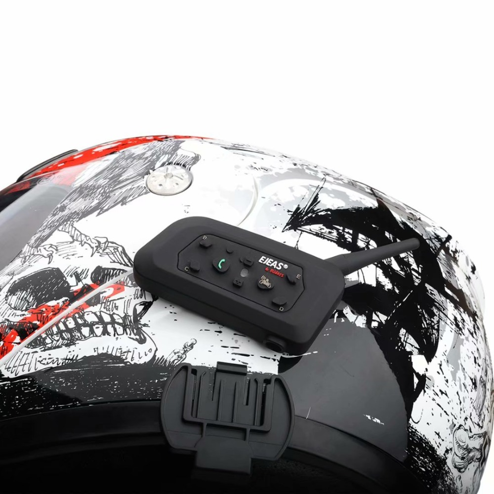 Image 5 - 2pcs EJEAS V6 Pro Intercomunicador para Capacete Bluetooth Helmet  Headset 1.2km IP65 Music Waterproof 6 Riders InterphoneHelmet  Headsets