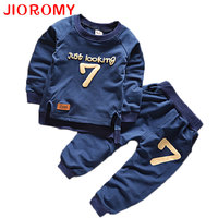 Boys Summer Cotton Clothes Sets Smile Face Printed Cute T Shirts Pants Kids Pajama Clothing Set