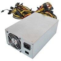 2800 Вт добыча питание 24Pin 12/13GPU двойные вентиляторы высокая эффективность компьютера для Eth Rig эфириума Bitcoin Miner