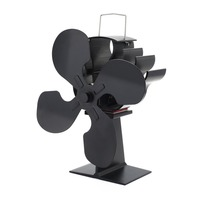 4 Blade Heat Powered Stove Fan for Wood / Log Burner/Fireplace Eco