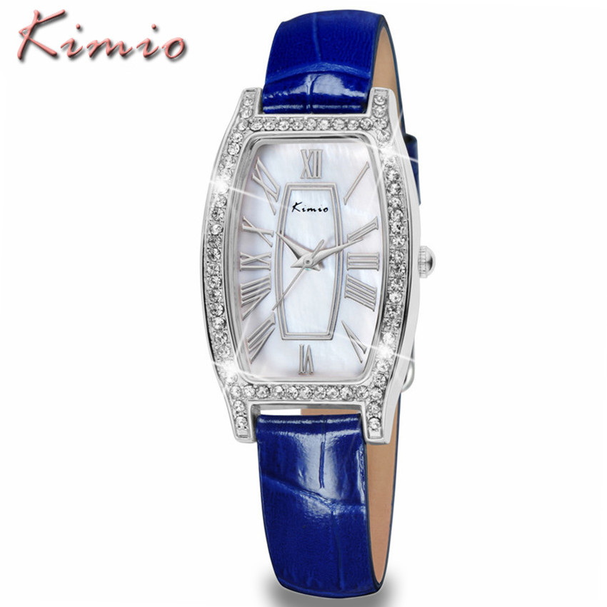 KIMIO Women Watches Top Brand Luxury Business Leather Strap Clock Quartz Wristwatch Fashion Ladies Waterproof Watch Montre Femme hot luxury brand fashion orologio donna fashion business watch women casual leather clock female quartz ladies wristwatch