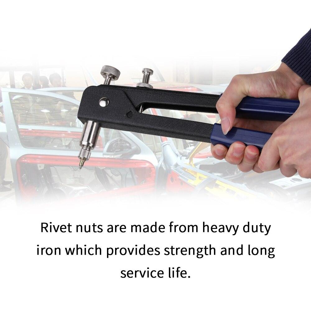 Professional Blind Rivet Gun Threaded Insert Hand Riveting Kit Nuts Riveter Tool Box Set Hand Manual Repair Tools