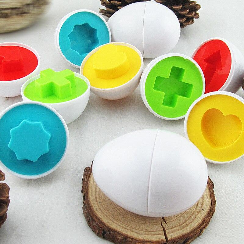 6 Stks Geometrische Eieren Figuur Model Speelgoed Onderwijs Leren Speelgoed Paar Wise Eieren Vorm Smart Eieren Kids Kleuterschool Leren Speelgoed Lekkernijen Geliefd Bij Iedereen