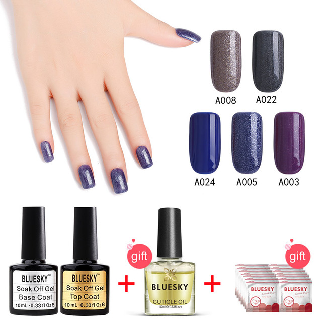 1set Manicure 100 Genuine Bluesky New Best Top Colors UV LED Gel Nail Polish
