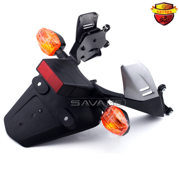 new fender eliminator fit for honda 2003 2004 2005 2006 cbr600rr & 2004 2007 cbr 1000 rr led china motorcycle spare parts For HONDA CBR 1000RR CBR1000RR 2004-2005 Motorcycle Fender Eliminator Registration License Plate Holder Bracket with Turn Signal