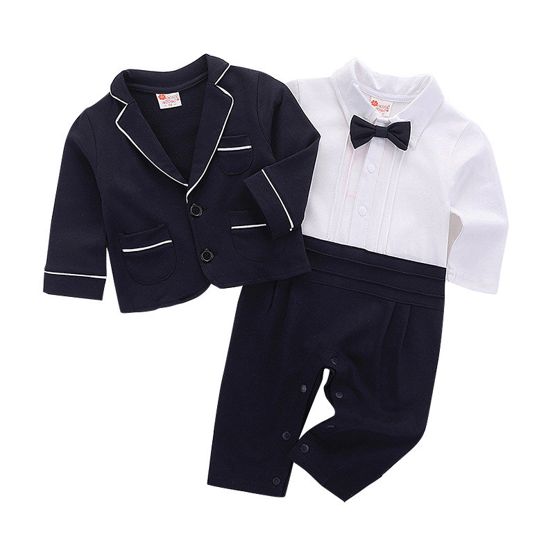 2PC Toddler Baby Kids Boy Soft Shirt Tops+Long Pant Clothes Gentleman Outfit Set