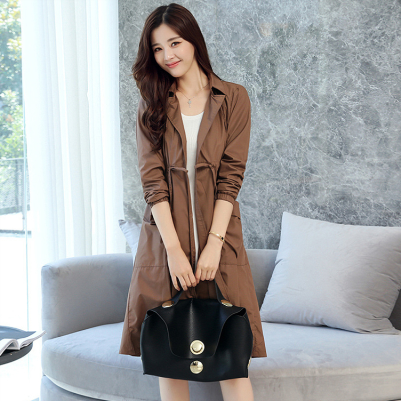 2019 Fashion Spring Autumn Women Runway Designer Oversized Double breasted   Trench   Coat with belt Female casaco overcoat 190301