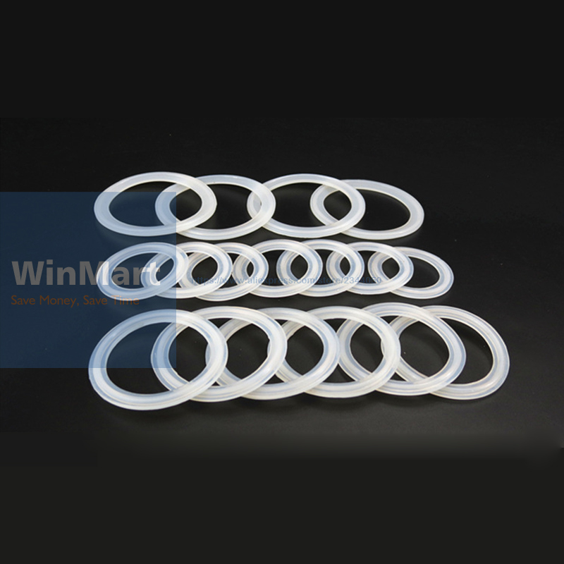 US $0 42 6% OFF|5pcs Sanitary Tri Clamp Silicone Gasket 51mm Pipe x 64mm  O/D Type Ferrule Flange Sealing Gasket Ring Washer Thickness 4mm-in Gaskets