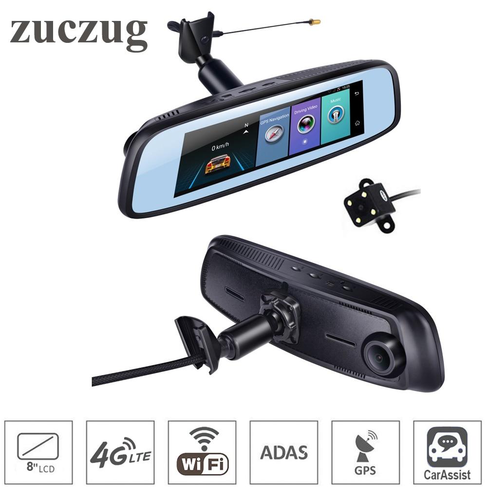 ZUCZUG 7.84 4G Touch IPS Car DVR Camera Mirror ADas GPS Bluetooth WIFI Android 5.1 Dual Lens FHD 1080p Video Recorder Dash Cam