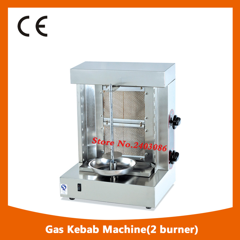 commercial table counter top stainless steel lpg gas 2 burner catering equipment doner shawarma kebab machine for frozen chicken 1pc hot sale 100%quality guaranteed doner kebab slicer two blades electrical kebab knife kebab shawarma gyros cutter