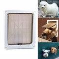 8.2x10.4 polegadas Plástico Retalho Cão de Pequeno Porte Médio Pet Bloqueável Porta Portão Branco Extra Grande