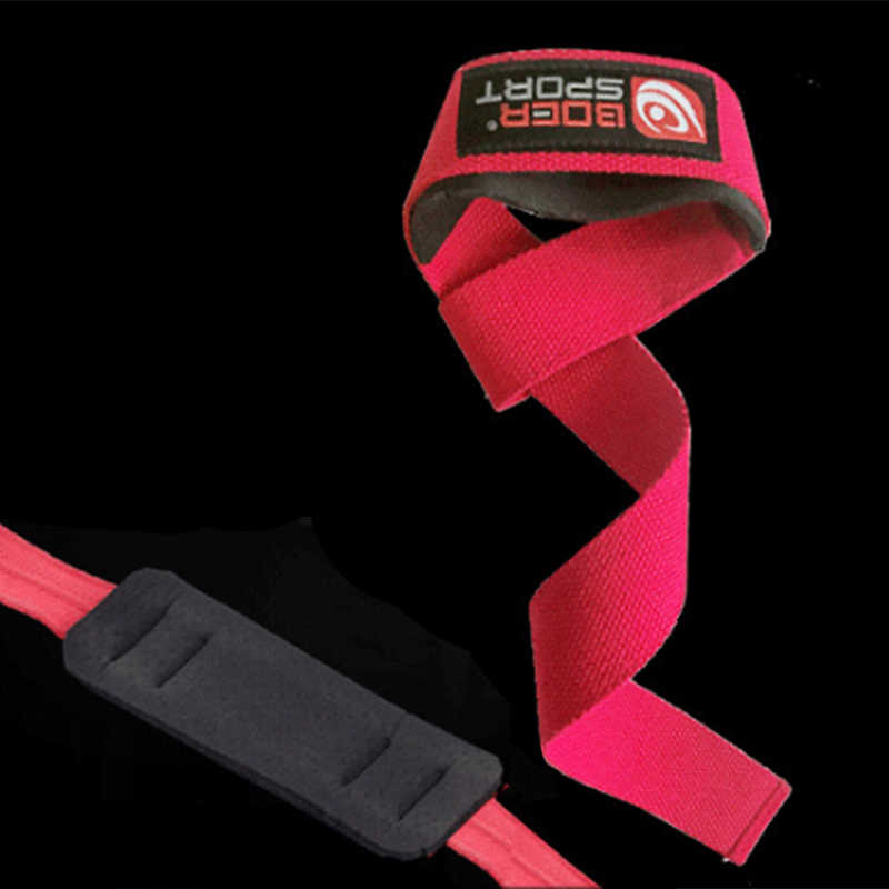 Pair Padded Weight Lifting Training Gym Strap Hand Bar Wrist Support Gloves Wrap