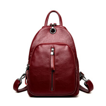 Fashion Women's Genuine Leather Backpacks Women Girls Students School Bag Shoulder Bags Women Casual Back Packs Travel Bag