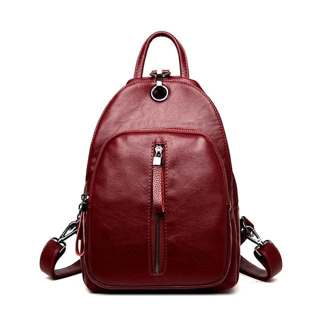 Fashion Women s Genuine Leather Backpacks Women Girls Students School Bag  Shoulder Bags Women Casual Back Packs Travel Bag bcc9c609ba7b1