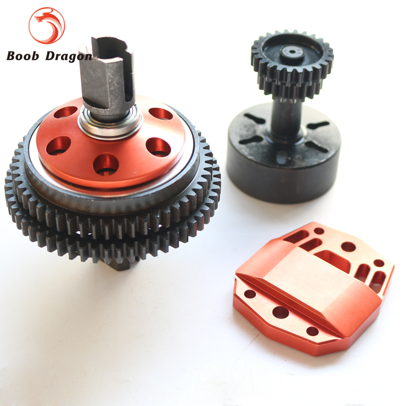 CNC Alloy 2 Speed Transmission Gear kit For Losi 5ive T Rovan LT King Motot X2 new cnc rear lower suspension set for losi 5ive t rovan lt