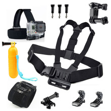Accessories Set for Gopro SJCAM Xiaomi Yi 4K Chest Head Hand Strap with J Hook Buckle for Go Pro Hero Session 5 3+ 4 SJ4000 SJ