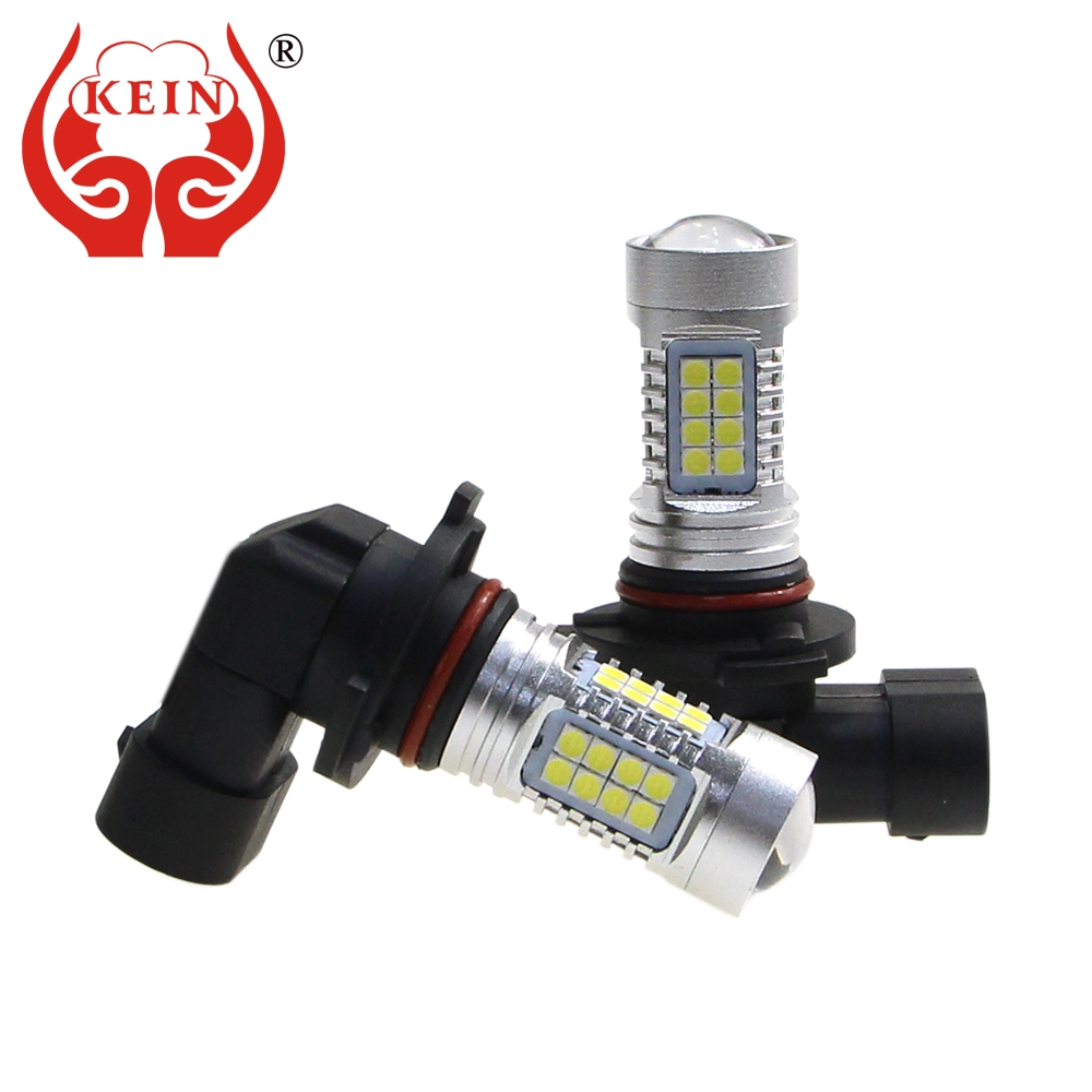 KEIN 2PCS H10 LED Car Fog Bulb Aluminum Auto 3030 36SMD DRL External Light Source Daytime