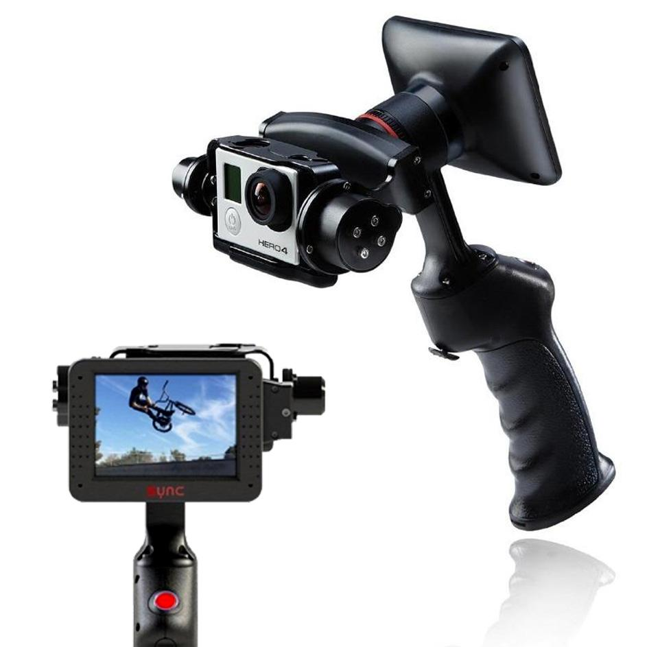 GP1 2 axis Gimbal stabilizer handheld video gimbal with 3 5 Monitor for Go Pro Hero