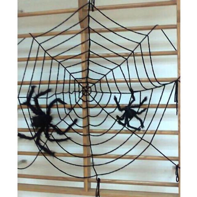 spider web halloween decoration party supplies gifts kids black white cloth halloween scene layout spider creepy - Spider Web Decoration