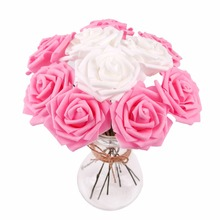 PATIMATE Heads Artificial Flower Bouquet  Wedding PE Foam Bride Rose Decor DIY Valentines Day Decoration