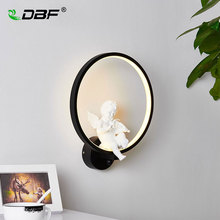 [DBF]Modern Art Angel Home Lighting Wall Mounted LED Wall Light 220V 18W Living Room Bedroom Ceiling Lamp LED Indoor Wall Lamp