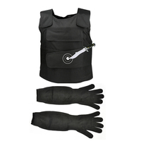 High Quality Stab Proof Safety Vest With Anti Cut Work Long Gloves Outdoor Protection Self Defense Tungsten Steel Iiner Plate