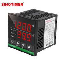High precision Up to 130 Celsius Wide Voltage Design Digital Temperature and Humidity Controller with Combined Sensor and Cables