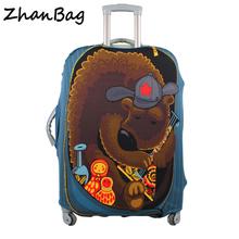 Bagaż podróżny walizka ochronna stretch pyłoszczelna osłona ochronna pokrywa walizka zastosowanie do przypadków 18-30inch Z-114 tanie tanio Akcesoria podróżne Elastyczna tkanina 75cm Poliester 35cm 280g Pokrowiec na bagaż 55cm Walizka 114 W QEHIIE Bagaż podróżny pokrowiec ochronny walizka